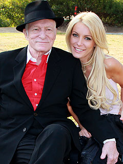 Not a couple anymore! - Hugh Hefner was to marry Crystal Harris tommorrow! She dumped him the other day!