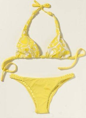 Bikini - A yellow bikini.