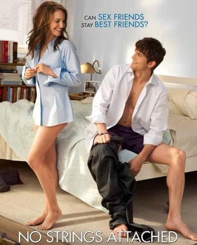 No Strings Attached - Very nice movie, I enjoy watching it. Actor: Ashton Kutcher and actress: Natalie Portman. Its a comedy, love and romance movie.