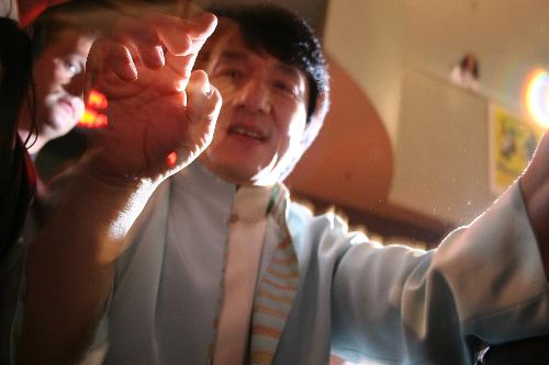 Jackie Chan Live - I love this photo of Jackie Chan. It is a nice shot I took on one of his movie premieres.