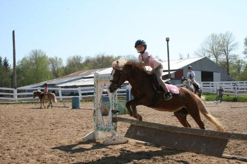 Emma and Candy - Emma is jumping her pony Candy. Emma could not resist looking at the camera when she was jumping! Candy has great form!