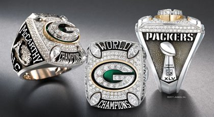 The Rings - The Green Bay Packers Super Bowl XLV rings! awesome!