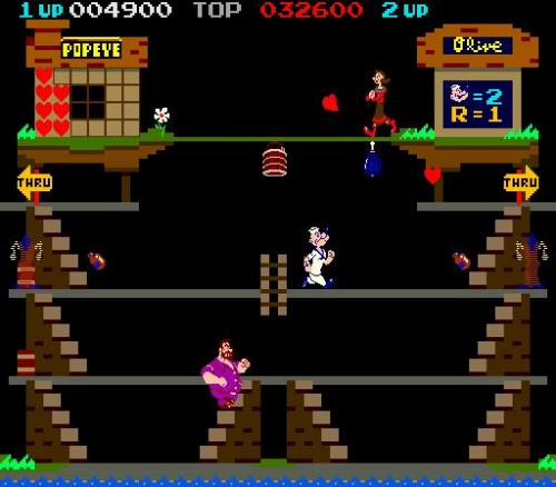 Popeye  - Screenshot of the Popeye arcade game.