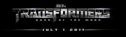 Transformers 3: Dark of the Moon - Movie title and release date of Transformers 3.