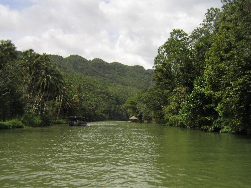 Nature - The very beautiful 'Loboc River' in Bohol, Philippines.  By taking the picture, one must ride the Boat Restaurant within an hour for an affordable cost. Meals are very delicious and a wonderful band will entertain us soothing music.