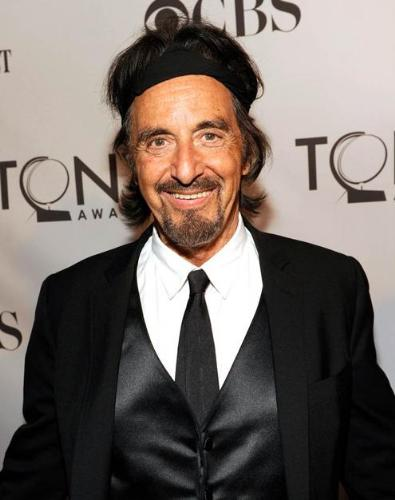 Seriously? - Al Pacino wore head band to the tony's! not a good look at all!
