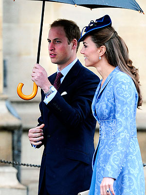 The Duke and Duchess - Prince William and his bride Catherine,the Duchess of Cambridge.