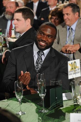 Nick Collins - Green Bay Packers defensive back last thursday night when the Packers recieved their Super Bowl Rings.