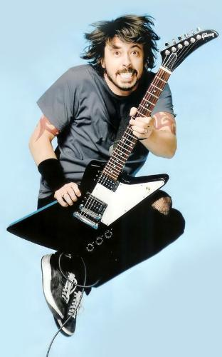 Dave Grohl - The drummer of Nirvana and the leader of Foo Fighters