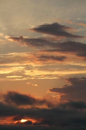 Clouds at sunset - Cloudy Norwegian sunset