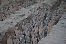 Terracotta Army - A photo of some of the Terracotta Army which was first discovered in 1974 by 2 farmers.