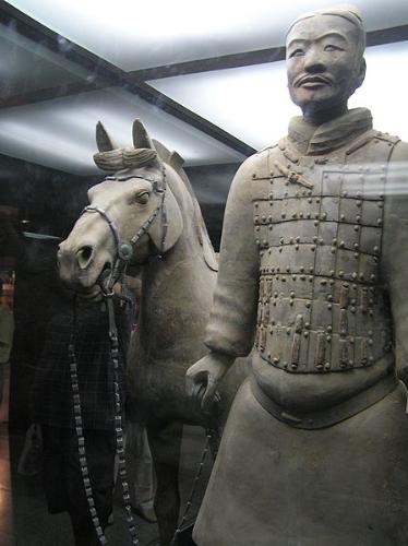 Solider and horse - One of Terracotta soliders with a horse.