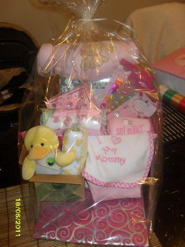 Babygirl Gift Basket - Here is a gift basket I created tell me what you think please :)