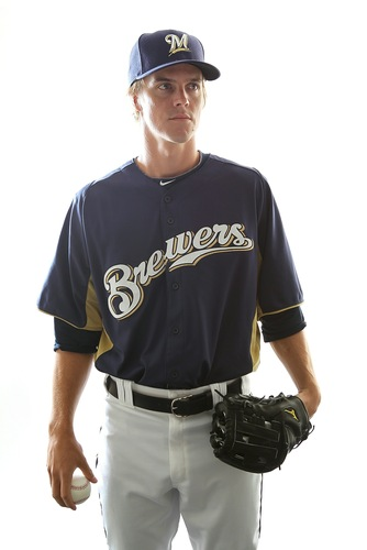 Brewers Pitcher - Milwaukee Brewers Pitcher Zach Greinke.