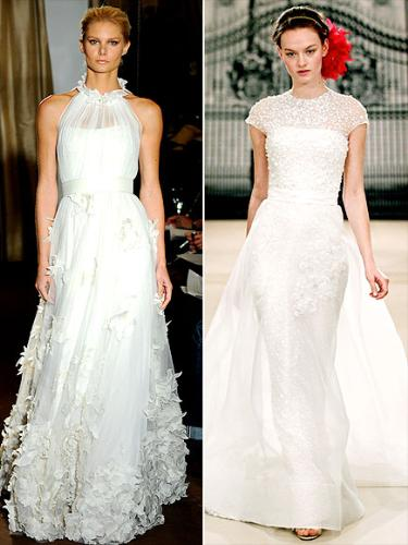 more wedding gowns - These two wedding gowns are what fashion expects say Christine Applegate will wear for her wedding.
