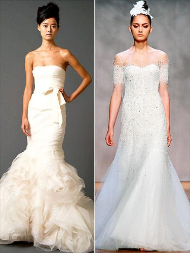 Some more wedding gowns - I really like the one on the left but not the one on the right!