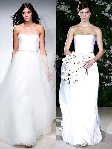 Strapless gowns - Two straples wedding gowns which i like.