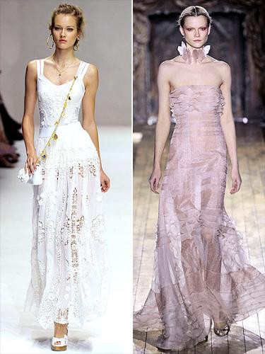 unusual dresses - Especially the right one on the right! Fashion expects think Kate Hudson will choice between the two!