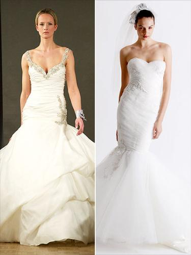 gowns - Some fashion experts believe Kim KArdashian will walk down the aisle in one of these dresses! I like both!