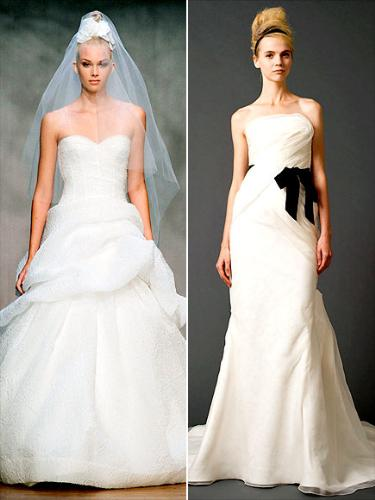 wedding gowns - I really don't care for these styles of wedding gowns!
