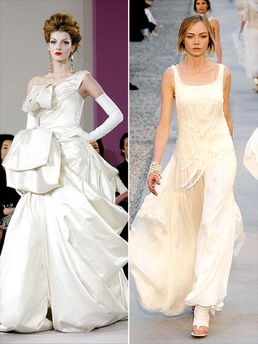 for kate Moss - Fashion expects think Kate Moss will wear one of these dresses ather wedding! I truly don't like these dresses! Eww!