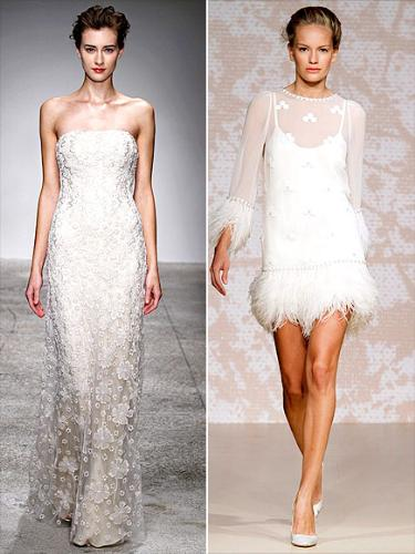 long and short - I like the long style wedding dress but not the short one!