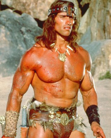 Arnold schwarzenegger - Arnold at his best in Conan-the barbarian.