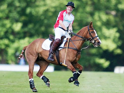 Prince Harry - Prince Harry playes polo and deos his brother William. Their dad played polo,too.