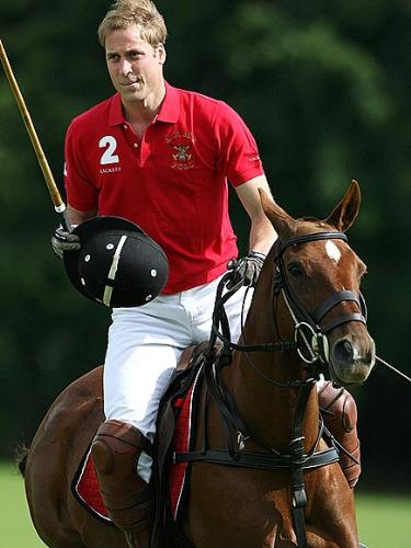 Prince William - Like his brother Harry,William palys polo. When younger their father,Prince Charles did,too.