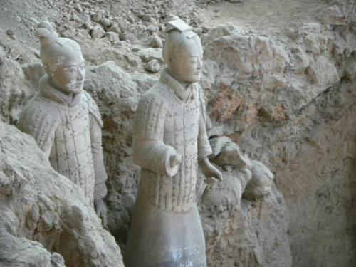 Terracotta soldiers - They were frist discovered by farmers in 1974. It is amazing an emperor had this 'army' buildt for the afterlife!
