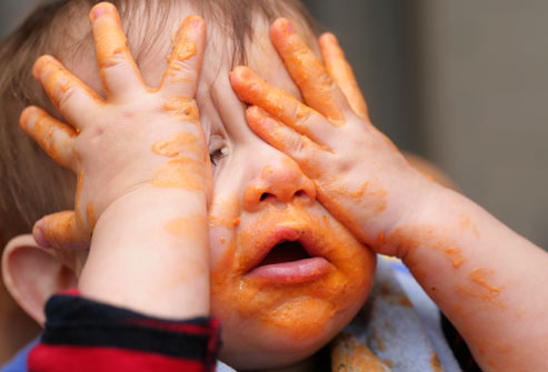 no more mashed carrots! - did your mother forced you to eat your mashed carrots when you were a baby?