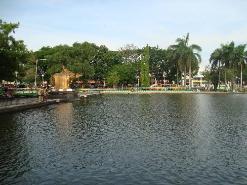 The Lagoon Bacolod city. - This is in the heart of Bacolod and is full of fish that will crows round the edge to be fed.