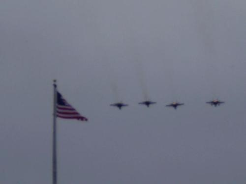 Fly over - A military fly over at Lambeau field last year at one of the home games.