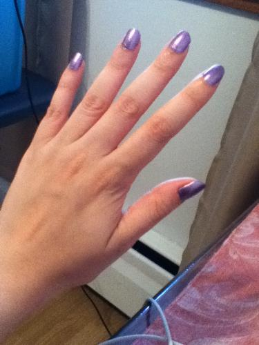 My nails in purple - Pretty sexy purple nails, don't you think so?