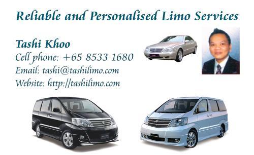 Singapore Licensed Limousine and Minibus Network - TashiLimo.Com - Singapore Licensed Limousine and Minibus Network
