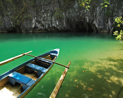 Puerto Princesa Subterranean River National Park,  - The Puerto Princesa Subterranean River National Park features a spectacular limestone karst landscape with its underground river. A distinguishing feature of the river is that it flows directly into the sea, and the lower portion of the river is subject to tidal influences. The area also represents a significant habitat for biodiversity conservation. The site contains a full mountain to the sea ecosystem and protects forests, which are among the most significant in Asia.