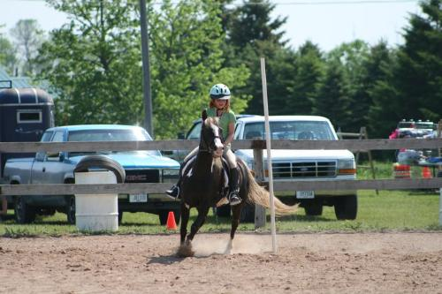 Running Poles - Rori and her pony Cupcake ran poles at a speed show a few weeks ago!
