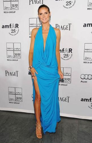 Heidi Klum - I don't know about you but every time I see photos of Heidi Klum looks way to thin! I think she is getting thinner!