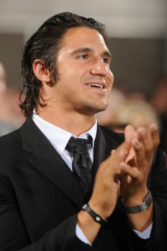 Frank Zombo - Green Bay Packer lineback at the Super Bowl ring ceremony on 6/16/11.