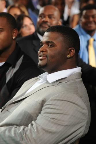 BJ Raji - Green Bay Packers defensive lineman at their Super Bowl ring ceremony 6/16/11.