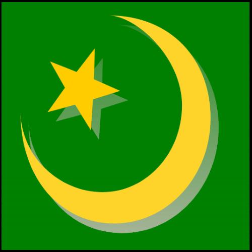 Islam - Islamic Symbol in green.