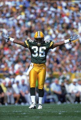 LeRoy Bulter - He started the 'Lambeau Leap'! He also was a great defenseive back for the Packers.