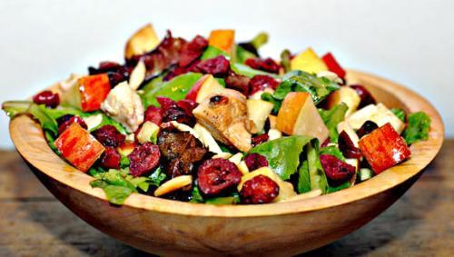 Chicken salad - Healthy chicken salad with almonds