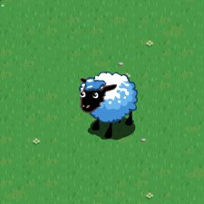 Sheep - A sheep from the Facebook game 'FArmville'. Love the game!