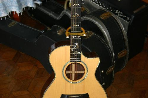 guitar - a wood guitar.