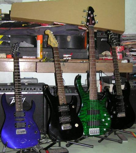 guitars - Guitars side by side.