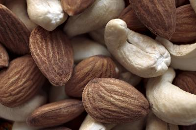 nuts - cashew and almonds