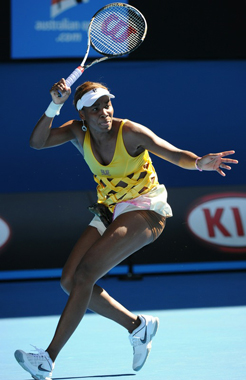 venus Williams - Venus has some unusual tennis outfits! This is no exception!