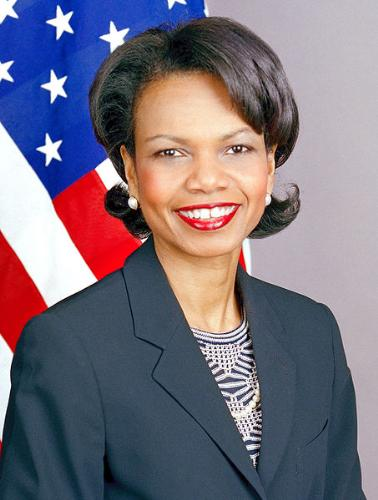 Condolezza Rice - Former secertary of state under President George W. Bush.