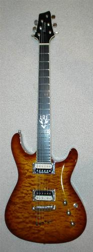 guitar - Guitar with brown color.